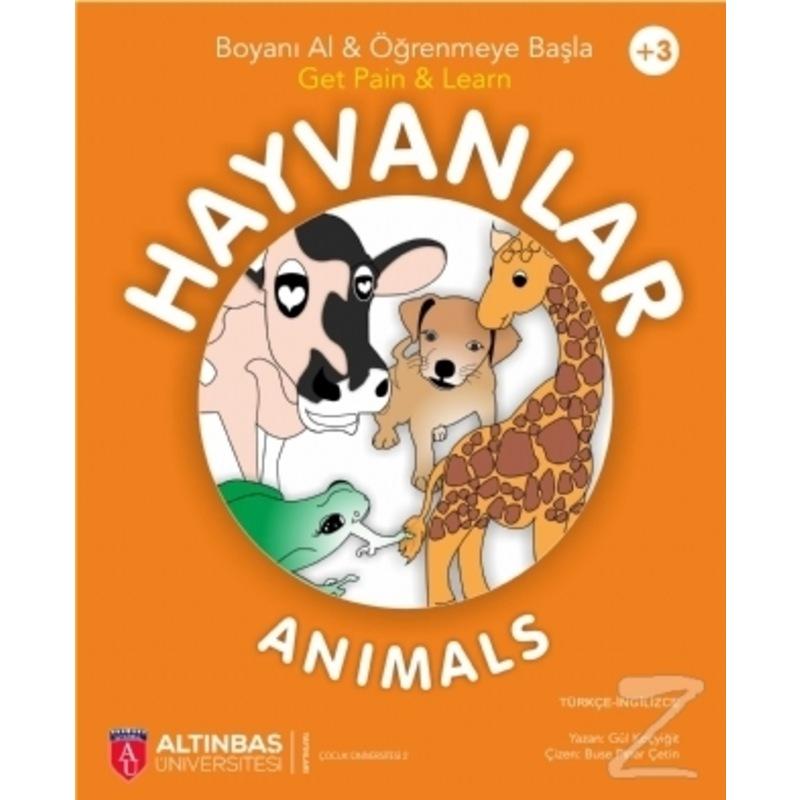 Hayvanlar Animals Boyama Kitabi Okul Cagi Cocuk Kitaplari