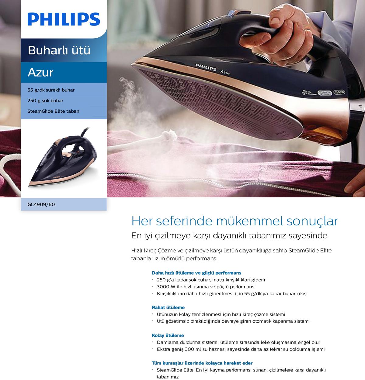 Philips GC4909/60 Azur Ütü