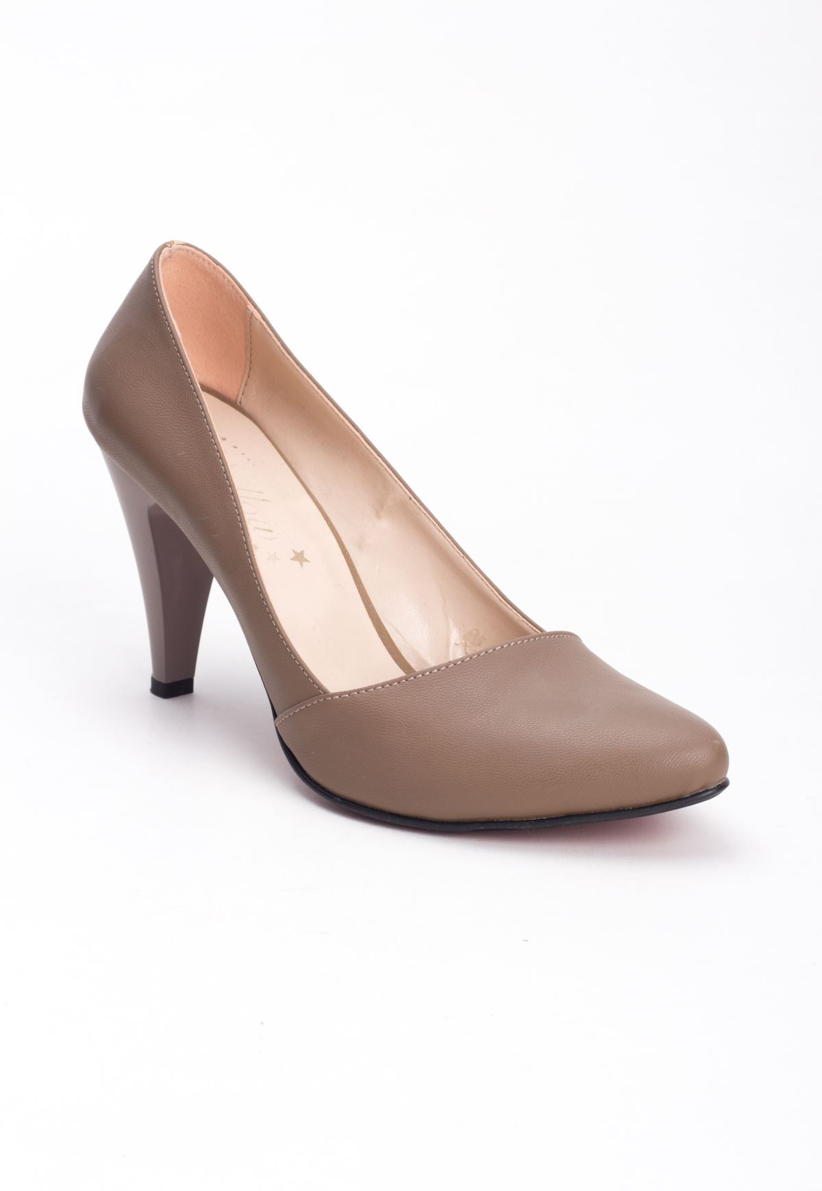 Erb Vizon Cilt Yan Kesim Bayan Topuklu Ayakkabı