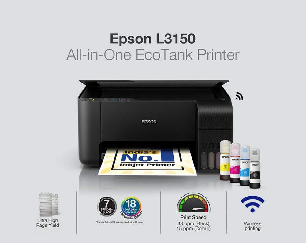 Epson EcoTank L3150 Wifi Mürekkep Püskürtmeli Çok Fonksiyonlu Yazıcı