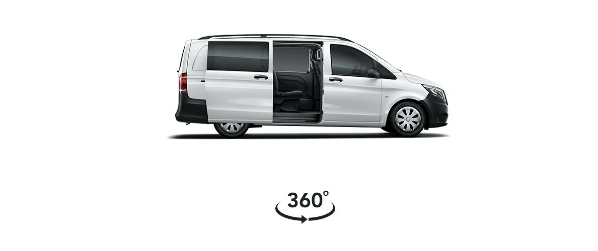 Mercedes-Benz Vito Mixto - Aracı 360 derece inceleyin