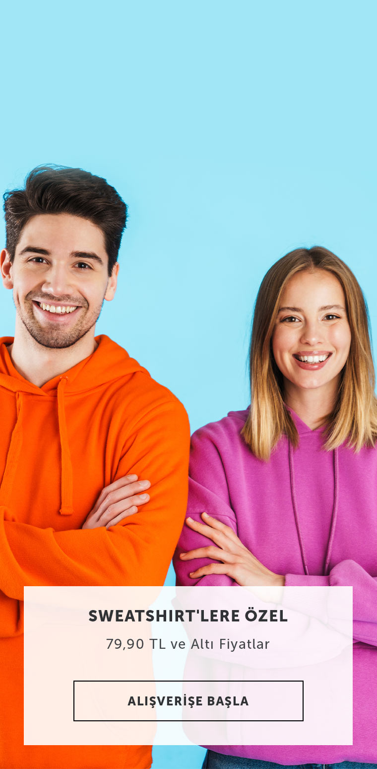 Sweatshirt Ürünlerinde max 79.90 tl Fiyatlar.