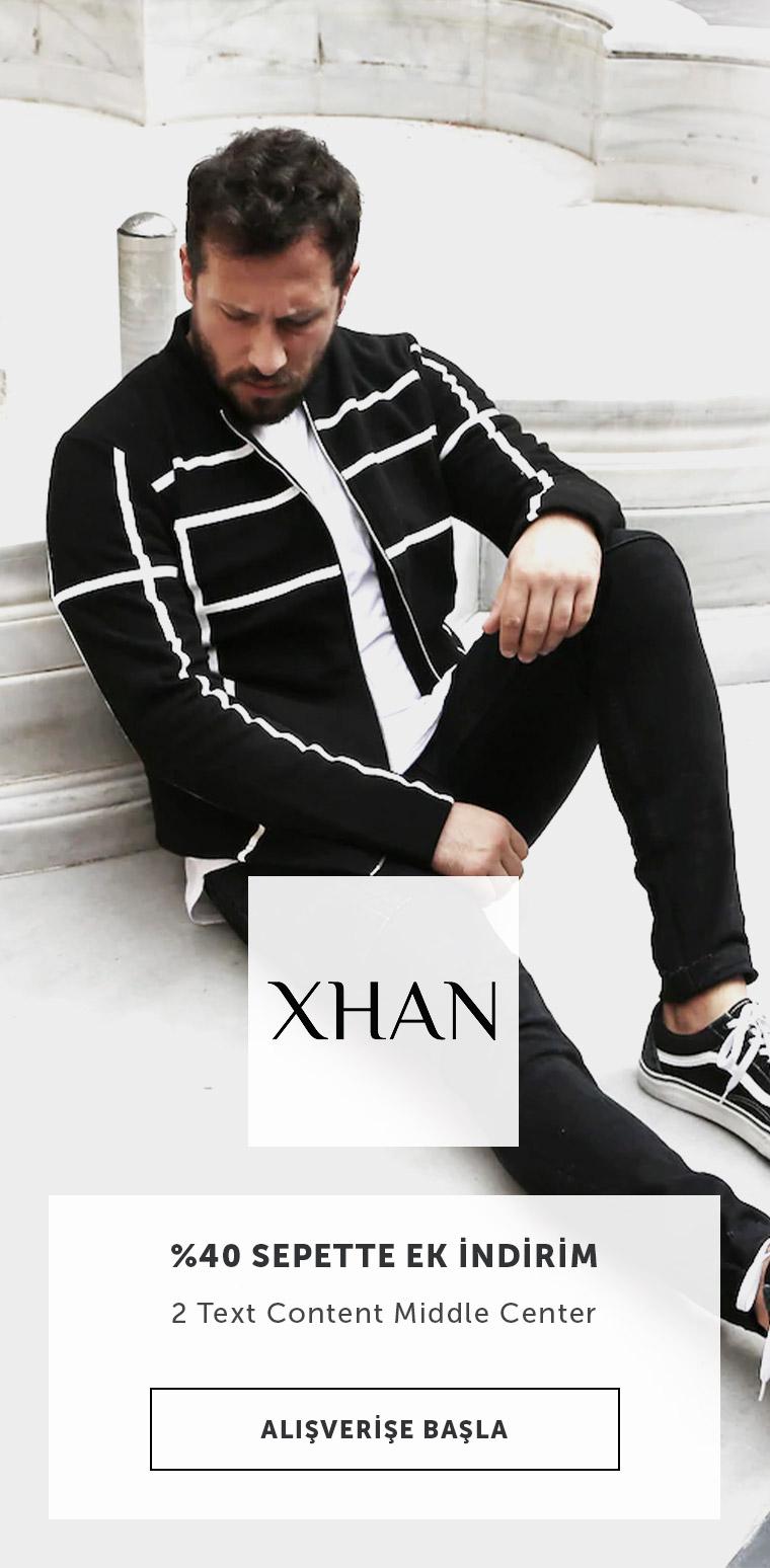 Xhan Erkek Giyim Ürünlerinde %40 Sepette Ek İndirim