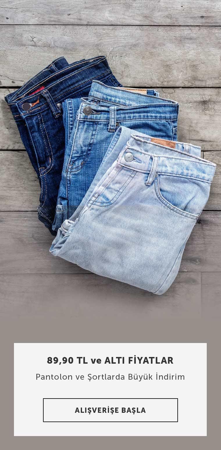 Erkek Pantolon ve Şortlarda 89.90 tl Altı Fiyatlar