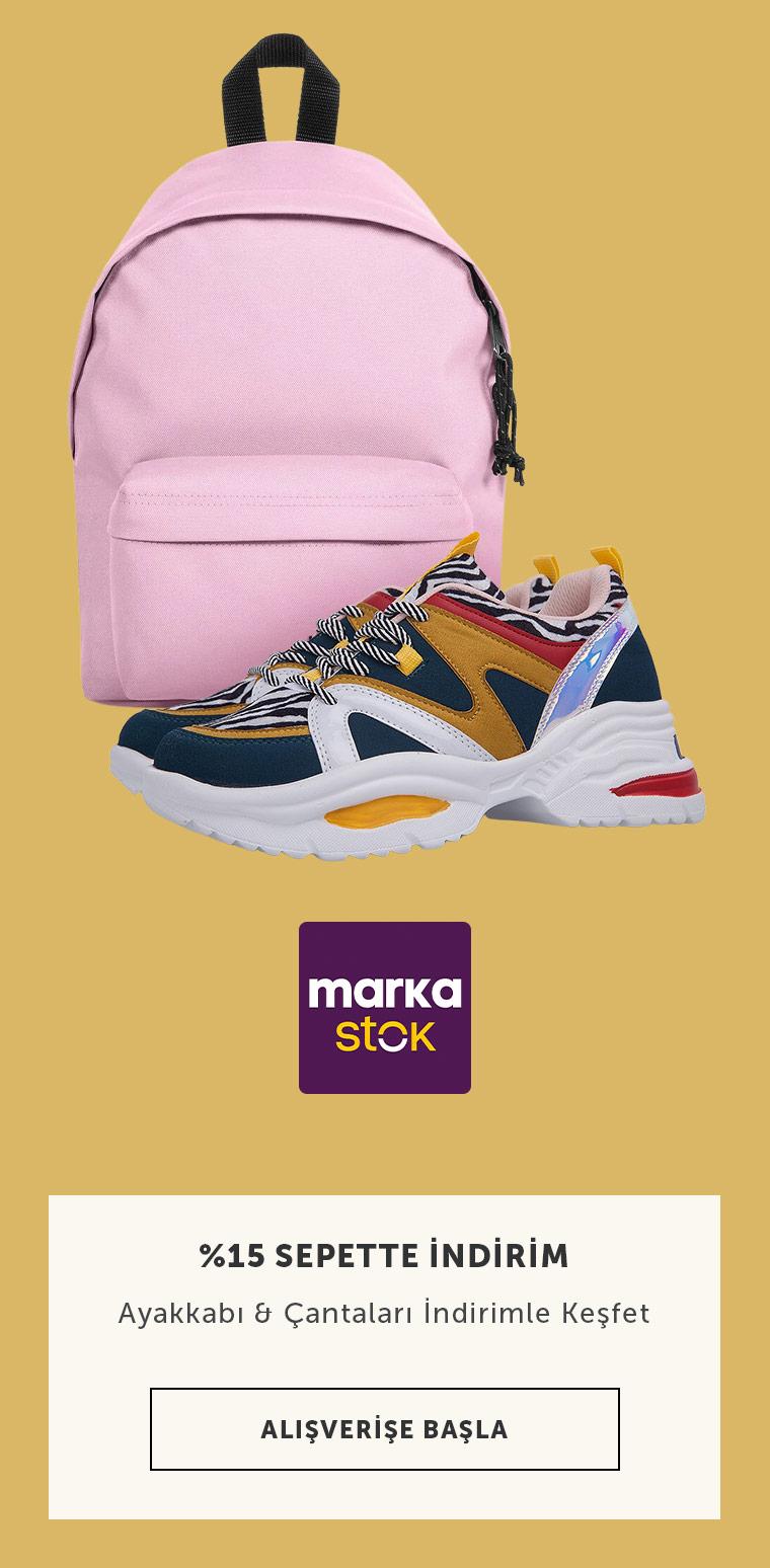 MarkaStok Ayakkabı Çanta Sepette Ek %15 İndirim