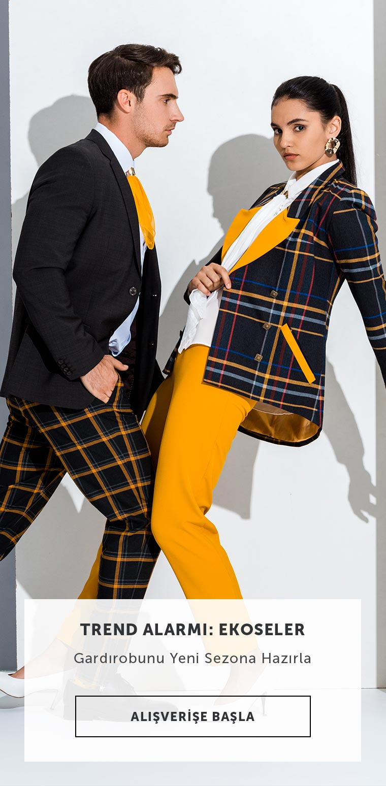 Kadın ve Erkek Giyimde Ekose Trendi