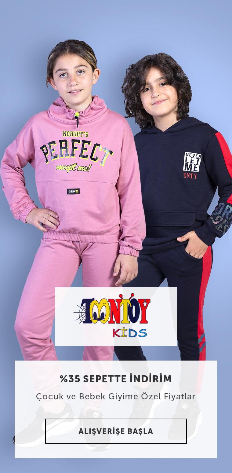 Toontoy Çocuk Giyim Sepette %35 İndirim