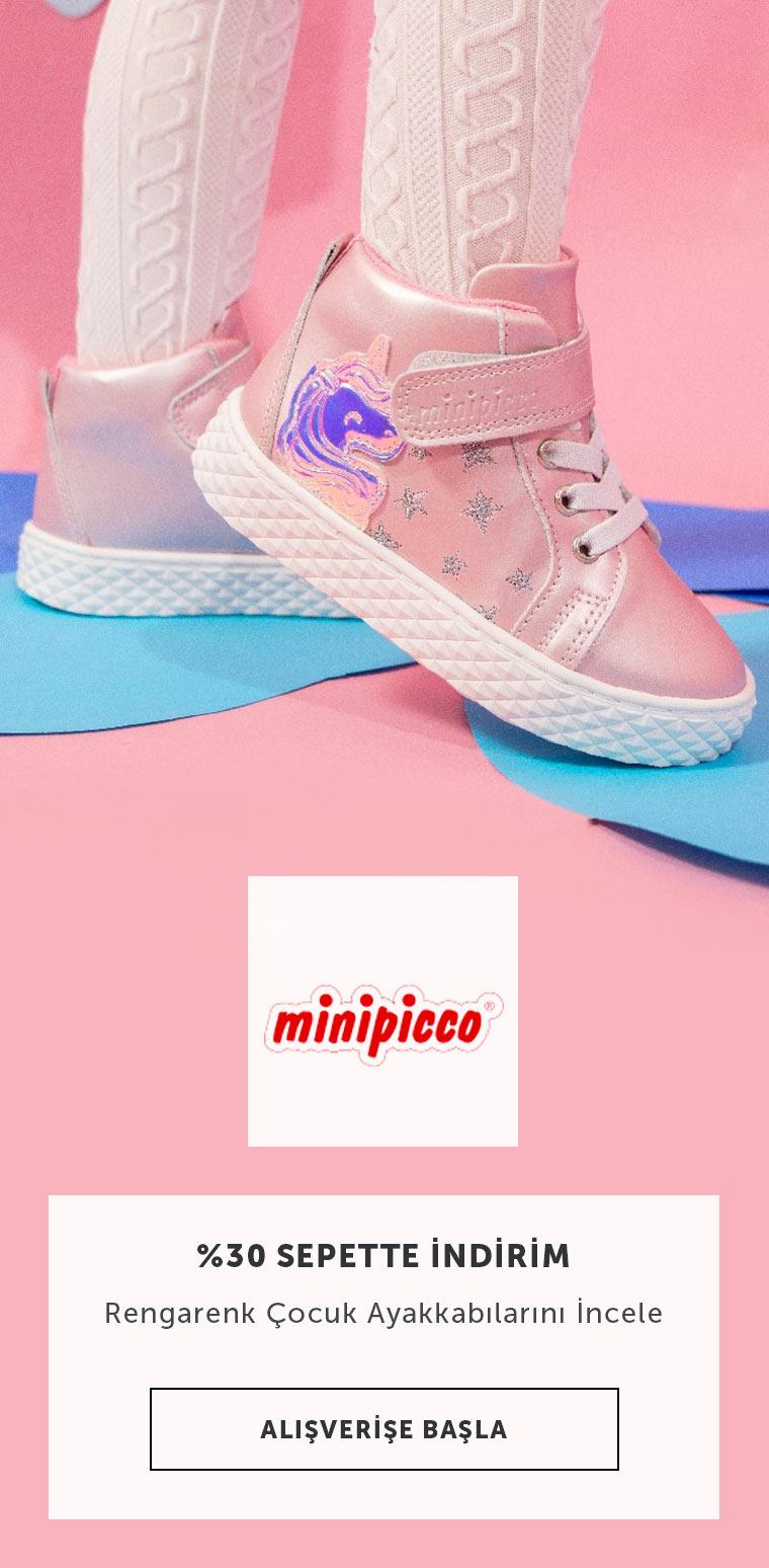 Minipicco Çocuk Ayakkabılarında Sepette %30 İndirim