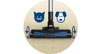 Turbo Fırça başlığı %25 daha fazla kıl ve toz alır