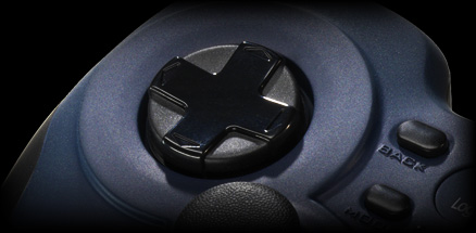 Close up of the F310 exclusive 4-switch D-pad