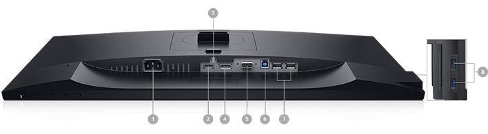 Dell P2719H Monitör - Bağlantı Seçenekleri