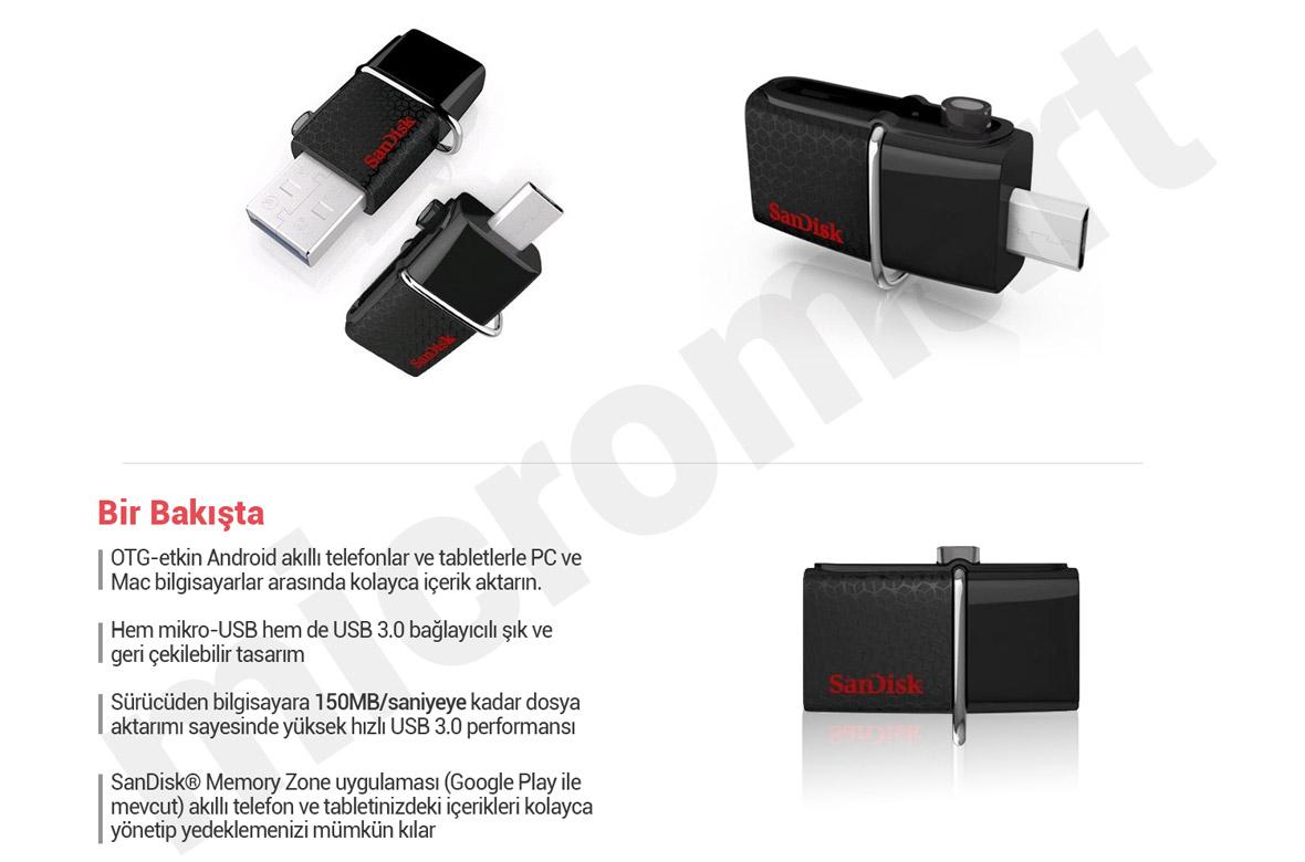 Sandisk Ultra Dual Drive Otg 16gb Usb M30 Daftar Update Harga 64gb Flash New Strangerone Source 30 Bellek N11com Sddd2 016g Garantili Fatural Ayn
