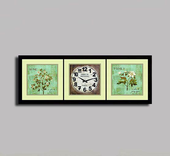 Sardunya Duvar Saati Tablo Yatay,100 x 40 x 5 Cm