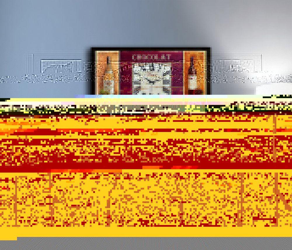 Üzüm ve Şarap Figürlü Kanvas Duvar Saati