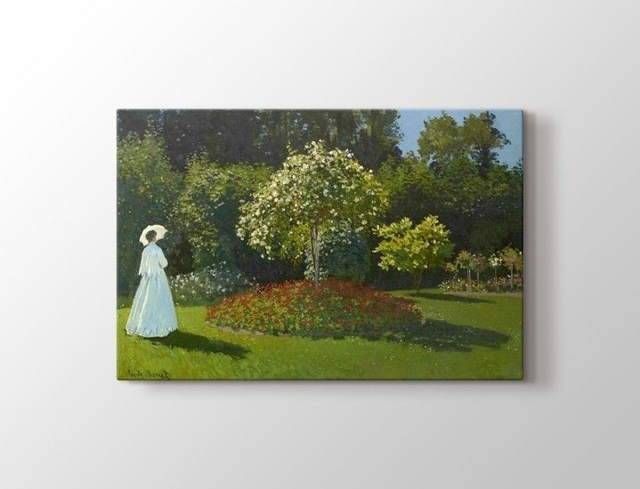 Claude Monet - Lady in the Garden Tablo