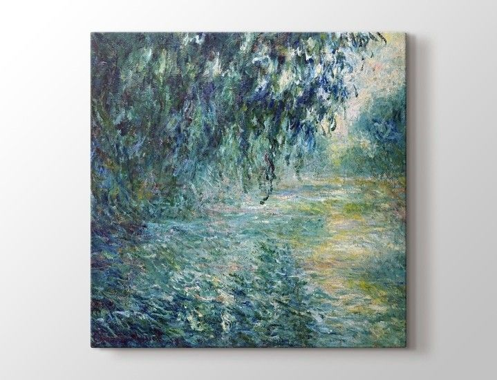 Claude Monet - Morning on the Seine Tablo