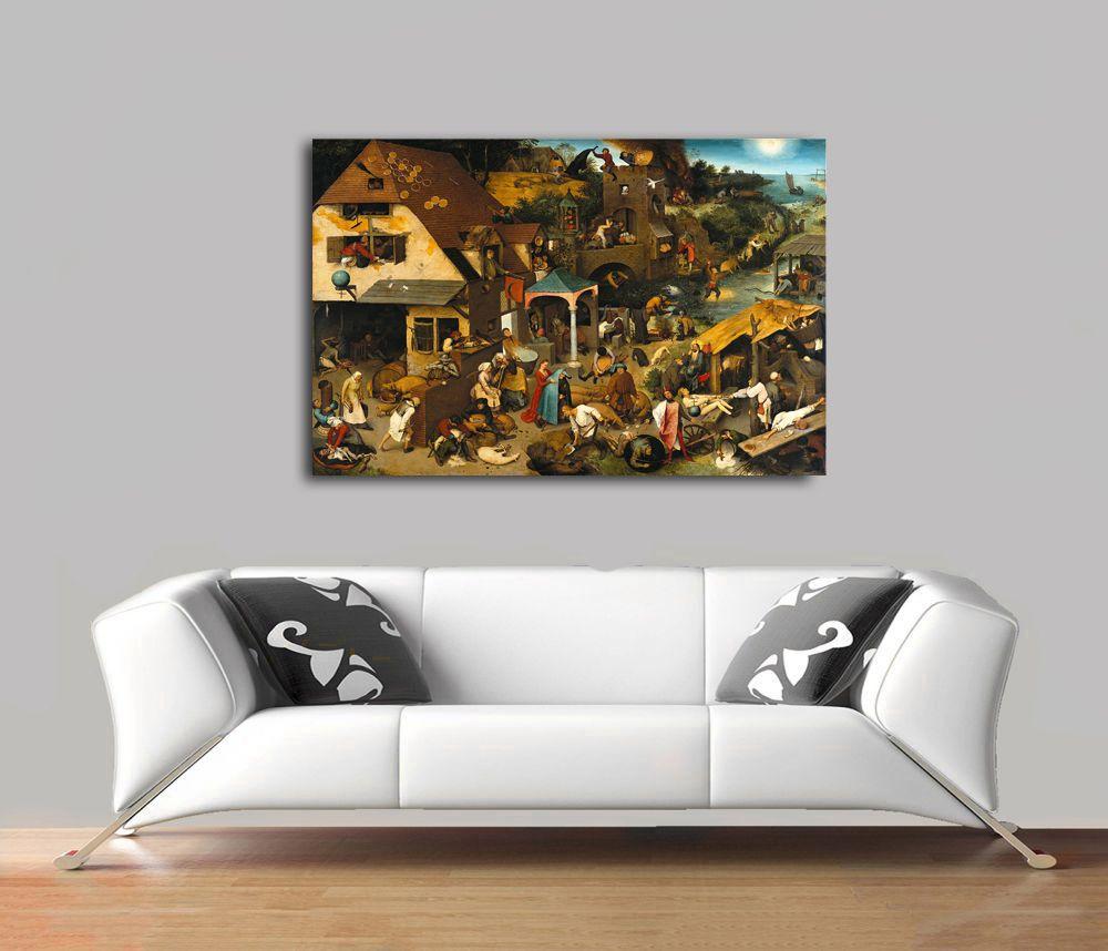 Pieter Bruegel - Dutch Proverbs Tablo