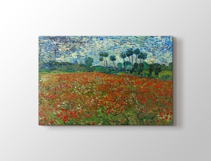 Vincent van Gogh - Poppy Field Tablo