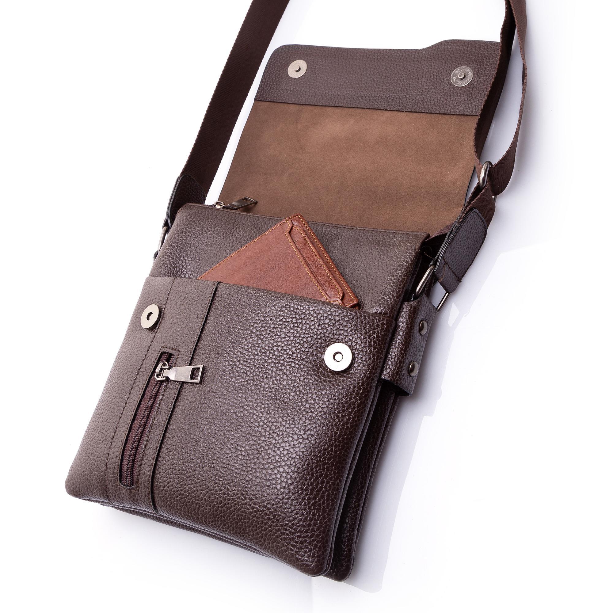 Tessono Erkek Deri Postacı Omuz çantası çapraz Askılı M1 N11com