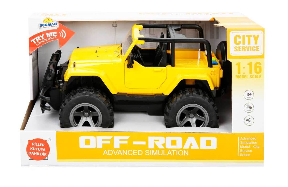 Off Road Jeep >> Sunman 1 16 Sesli Ve Isikli Safari Off Road Jeep Sari