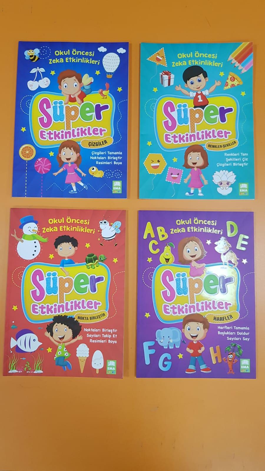 Okul Oncesi Zeka Etkinlikleri Super Etkinlikler Seti 4 Kitap N11 Com