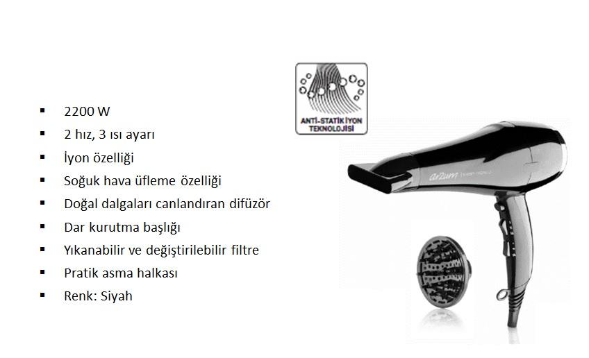 Arzum Ar5007 Shiny 2200w Iyonlu Sac Kurutma Makinesi Fiyatlari Ve