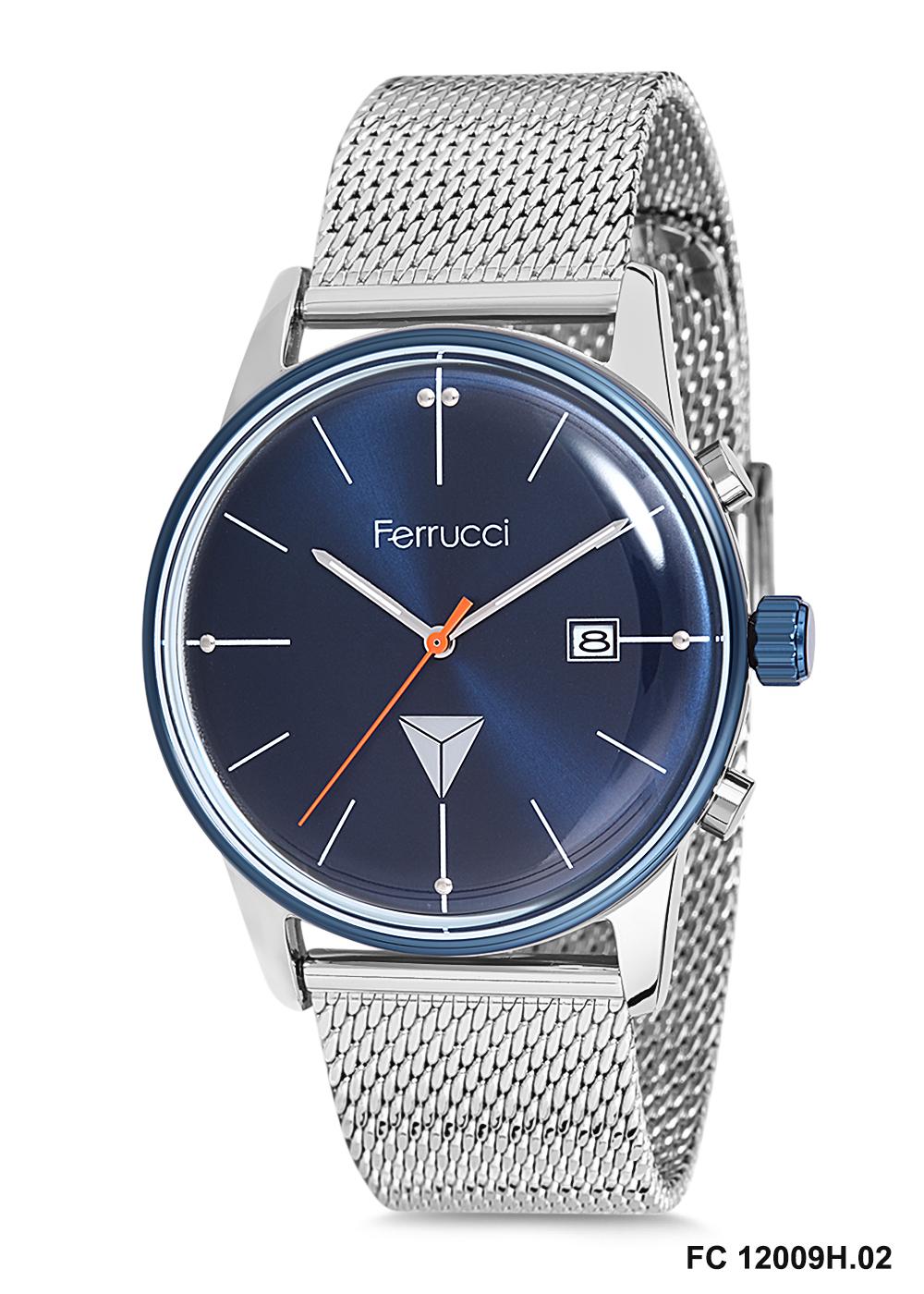 Saat Camı Seçenekleriyle Ferrucci Erkek Kol Saati