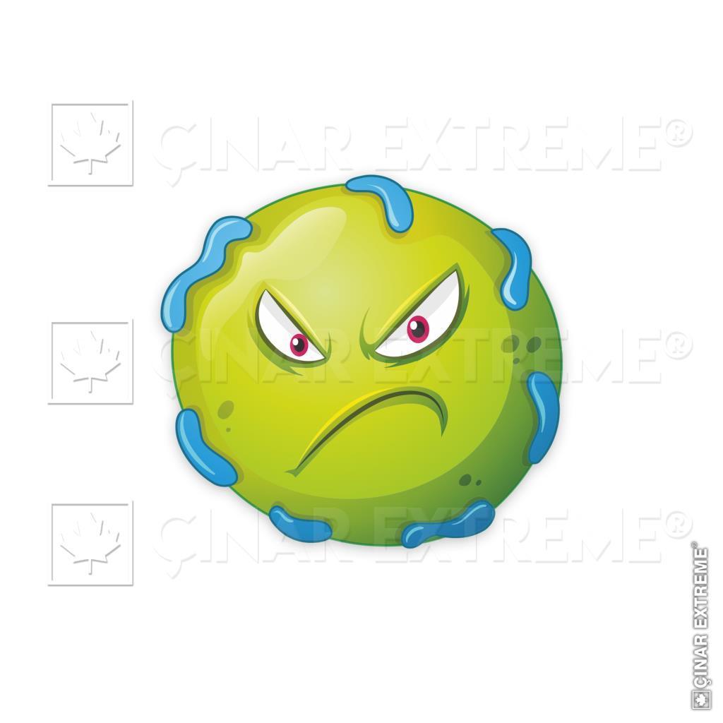 Kizgin Suratli Bakteriler Sticker Cinar Extreme N11 Com