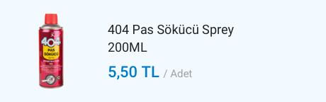 404 Pas Sökücü Sprey
